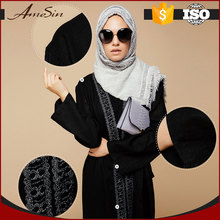 AMESIN Wholesale Low Price High Quality Muslim Black Abaya Egypt Design