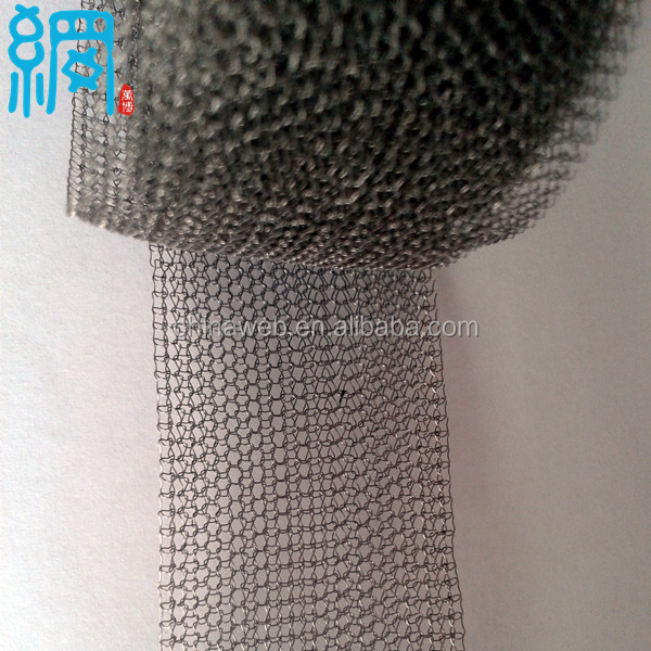 Vapor Liquid Filtration Knitted Metal Wire Mesh