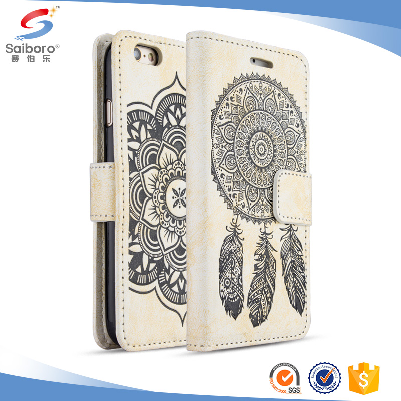 Flexible price for iphone 7 leather case wallet slim