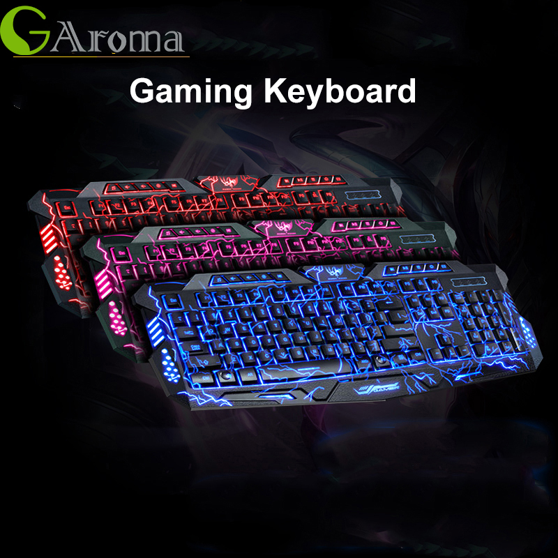 Wholesale Wired Led Backlit Waterproof Ergonomics Multimedia Mechanical Gaming Keyboard