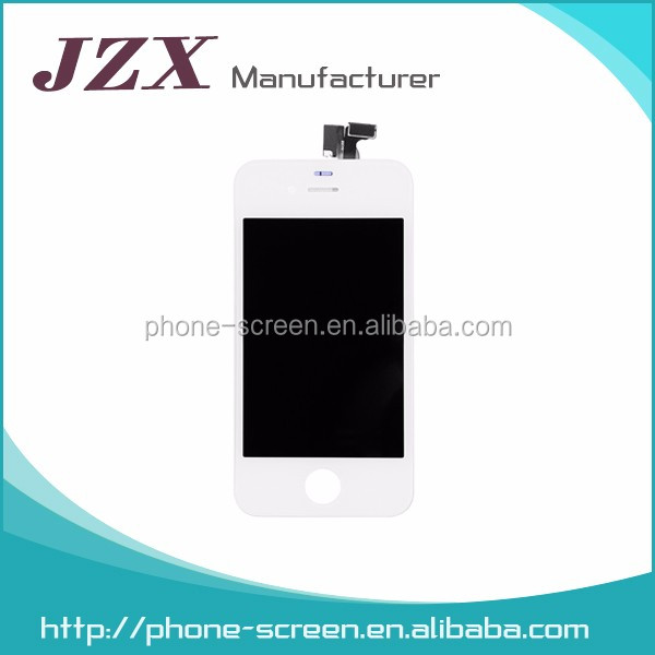 JZX Original Grade AAA Quality For iphone 4 conversion kits, Color Lcd Screen For iphone 4 Lcd With Digitizer Full Housing Set