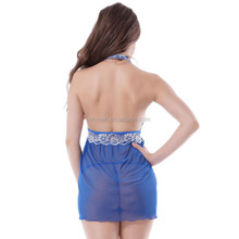 2016 Wholesale beatiful royal blue babydoll hot photo sexy transparent nighty girls