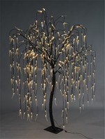 Indoor/outdoor waterproof artificial LED weeping Willow Tree lighting/ LED lighted willow tree lights