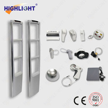 Highlight Supermarket sliver gray AM 58KHz security EAS system/EAS anti-theft system jammer/clothing store eas alarm antenna