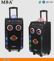 10 inch ibastek karaoke bluetooth speakers, ibastek speakers with disco light E-10