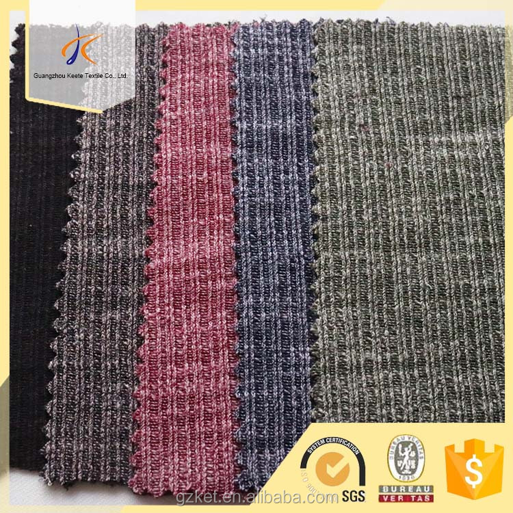 60 polyester 40 cotton tc fabric striped jacquard jersey knitting fabric