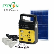 10W portable solar light system with fm radio ,home solar lighting for africa