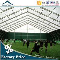 20x35m fire resistant outdoor sports tents for basketball and football water resistant with aluminium structure pvc roof