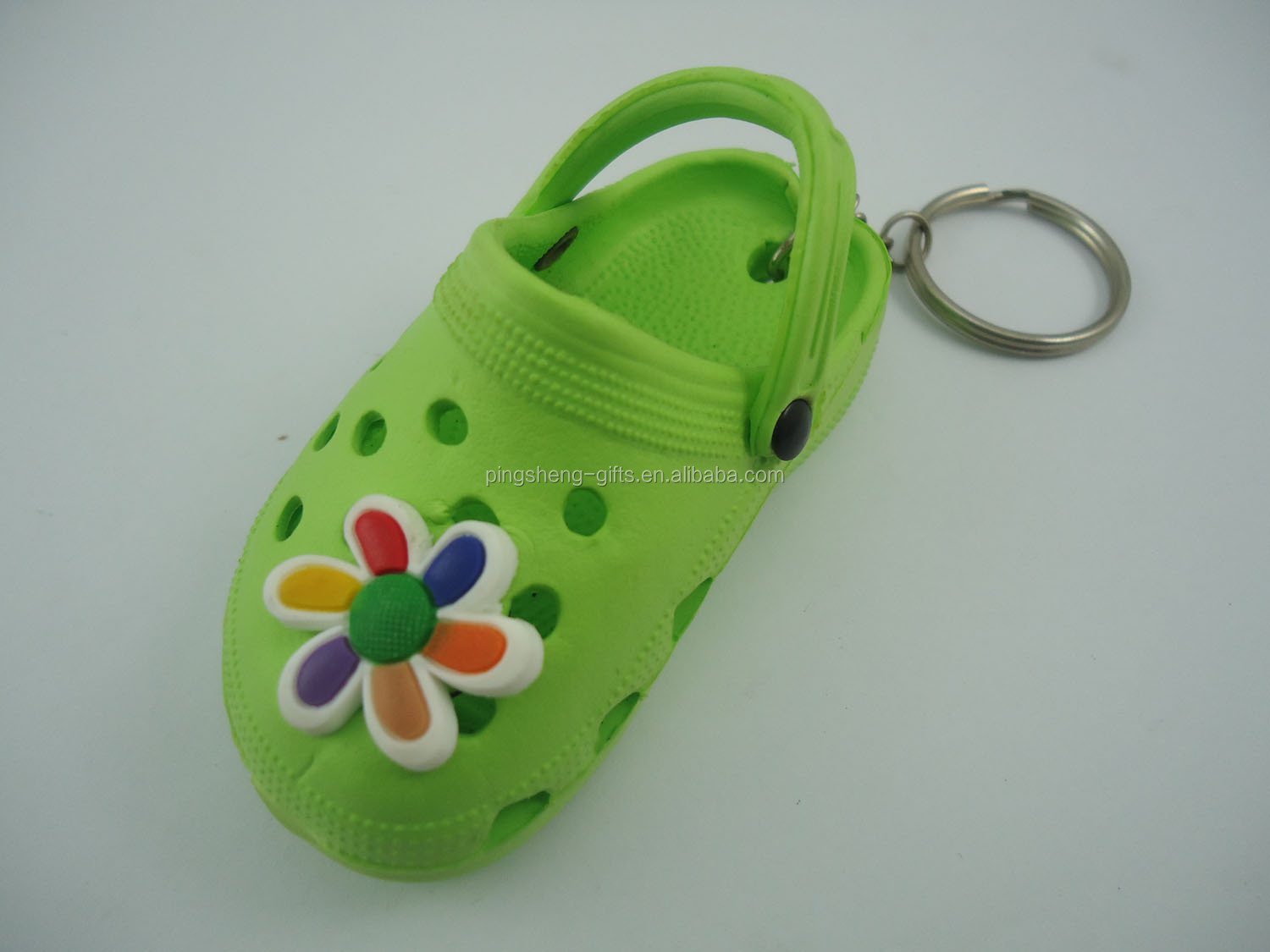 hot sale 3d PVC crocs shoe Keyring