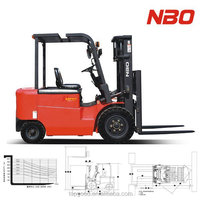 NBO 1ton mini electric forklift, used forklift with battery for sale