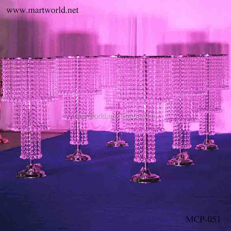 2018 LED lighting crystal wedding centerpiece wedding table centerpieces nice centerpiece for wedding&party decoration(MCP-051)