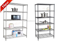 Stainless steel kitchen wall wire shelf with multi-levels