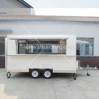 Best Quality Mobile Kitchen Van-food trailer- Mobile Food Cart With Big Wheels
