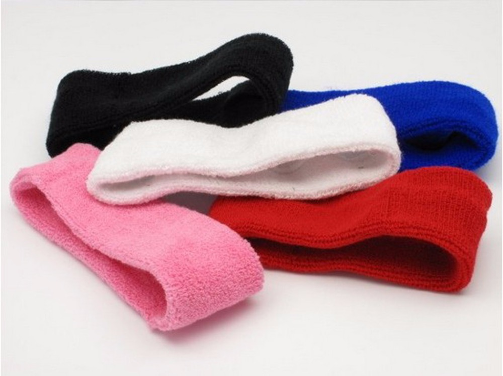 Factory Wholesale GYM/SPORT/EXERCISE custom terry cotton blank sweatbands in multi color