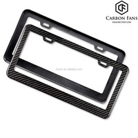 100% real Carbon fiber auto license plate frame,for US car number plate frame,Accept customized order