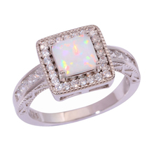 fashion jewelry mermaid shell crown and opal ring women gift