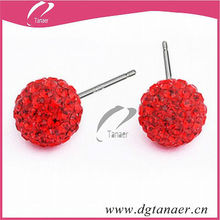 2013 Hot sale clay cheap jewelry red earrings