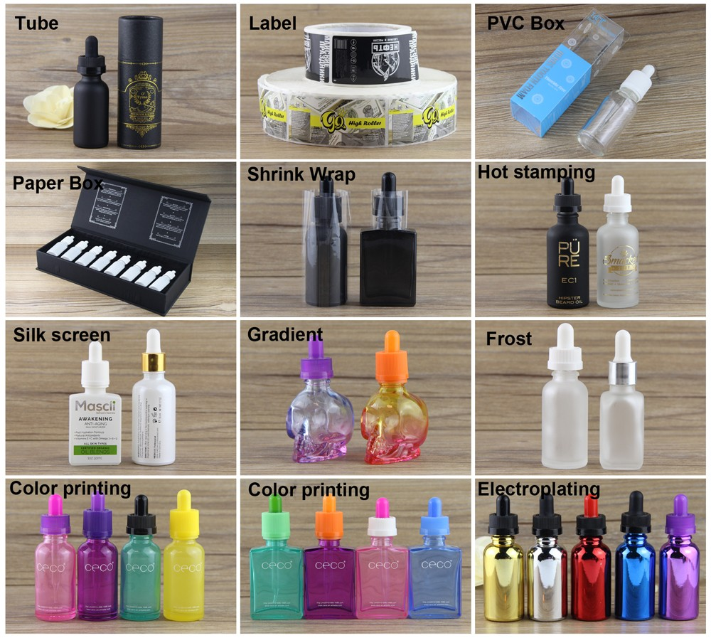 wholesales e juice beard oil 30ml glass bottle with dropper frosted black glass bottle