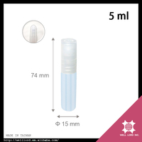Collection royal eau de parfum cosmetic plastic roller ball bottles