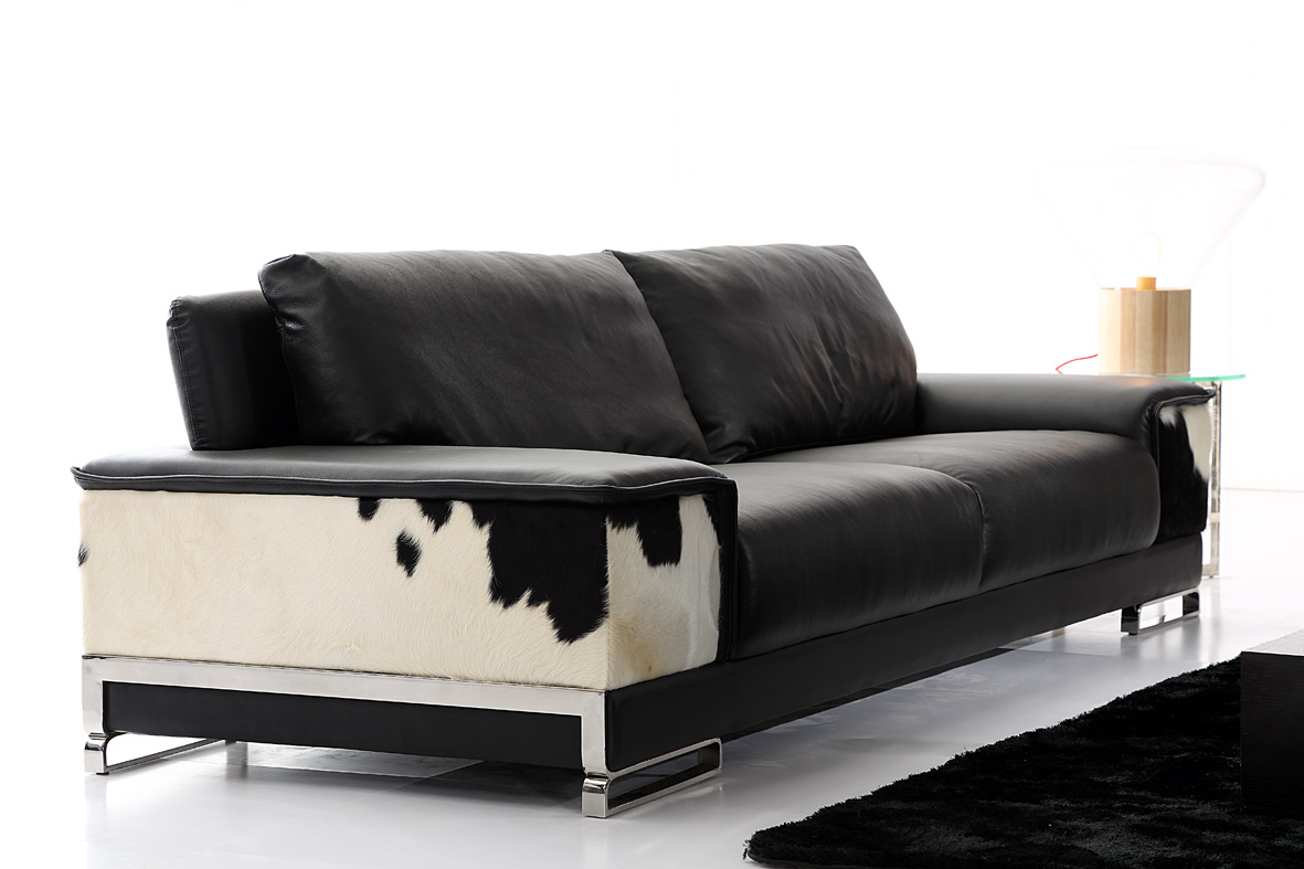 Luxury living room cow cowhide pure leather sofa sets for for Sofas contemporaneos