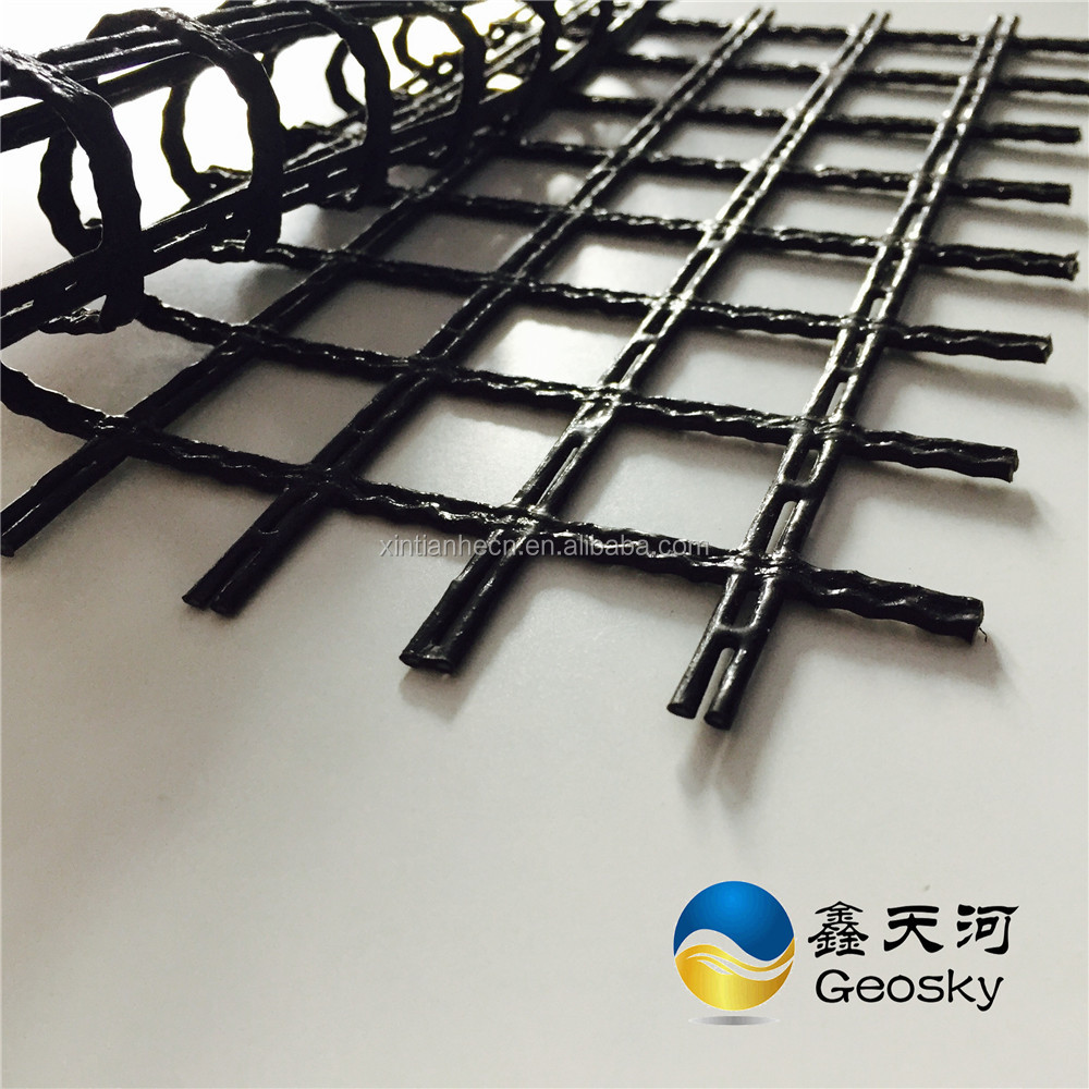 Construction materials Polyester Uniaxial & Biaxial Geogrid
