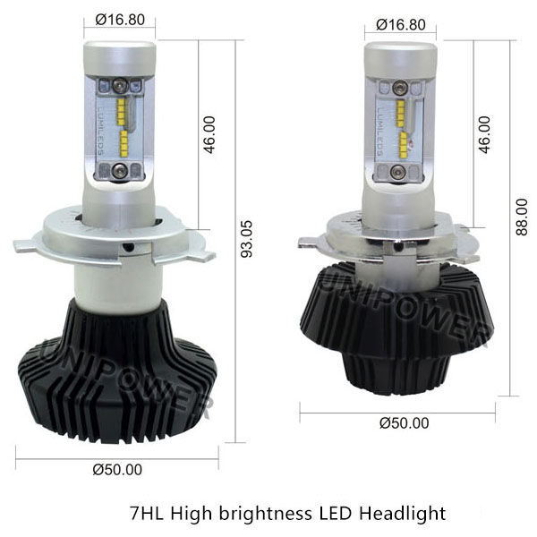 2016 Newest car led headlight conversion kit h11, philip-zes 12-24V plug&play 4000LM per bulb h11,7hl/g7 car led headlight h11
