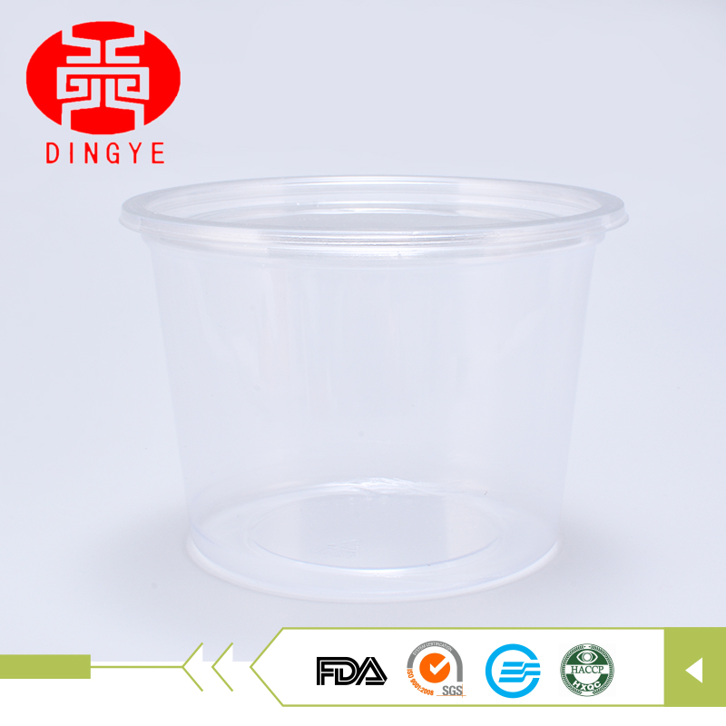 Manufacture cheap hot sealable 350g plastic dessert cookie container with lid