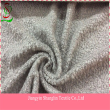 Fashion loop wool knitted fabric for women garment