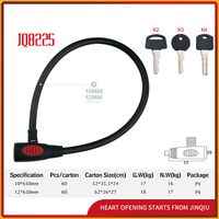 JQ8225 Steel Cable Lock For Bicycle Motorcycle Motorbike