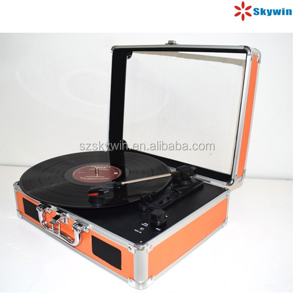 High Quality Retro 3 speeds 33 45 78 RPM USB Bluetooth Turntable Record Player Wholesales
