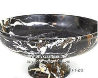 Black and Gold Fruit Dish in cheap price