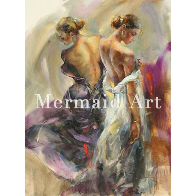 Hand Made Spanish Flamenco Woman Dancer Home Goods Wall Art Canvas Figure Oil Painting