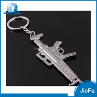 Zinc alloy custom shaped for promotion gun shape metal key chain