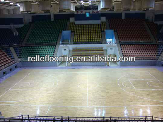 pvc sports flooring for basketball court