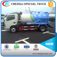 DONGFENG 4*2 3000L 95hp Small Sewage Vacuum Suction Truck Drain Clean Truck