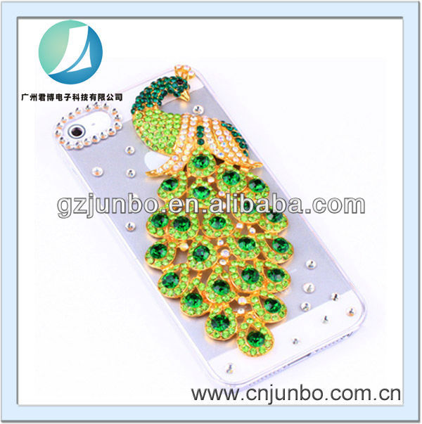 glitter peacock crystal diamond case for iphone 5 5S