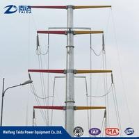 Business Opportunity 2017 Galvanized Steel Tubular Pole 8m Telescopic Mast