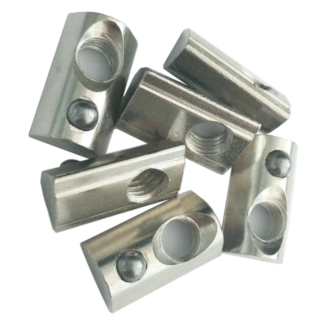 Pre-Assembly Fitting Spring Nuts -for 3030 Aluminum Extrusions zinc cpated steel spring nut