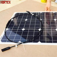 50W Flexible Monocrystalline Solar Panel For Sale 12V 10W 40W 350W 12W 150W 80W 60W 5W 100 Watt 48V Also Can be Supplied