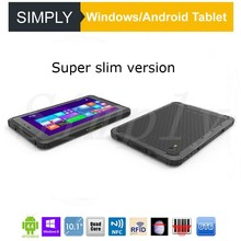 Simply T8H Ip67 Industrial Rugged Nfc Android Windows Tablet Pc With External Sim 4G Lte Card Reader