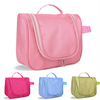 Custom travel fashion polyster makeup toiletry waterproof portable hanging toiletry bag