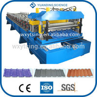YTSING-YD-4267 Passed CE Customized Roof Tiles Making Machines, Metal Tile Roll Forming Machine