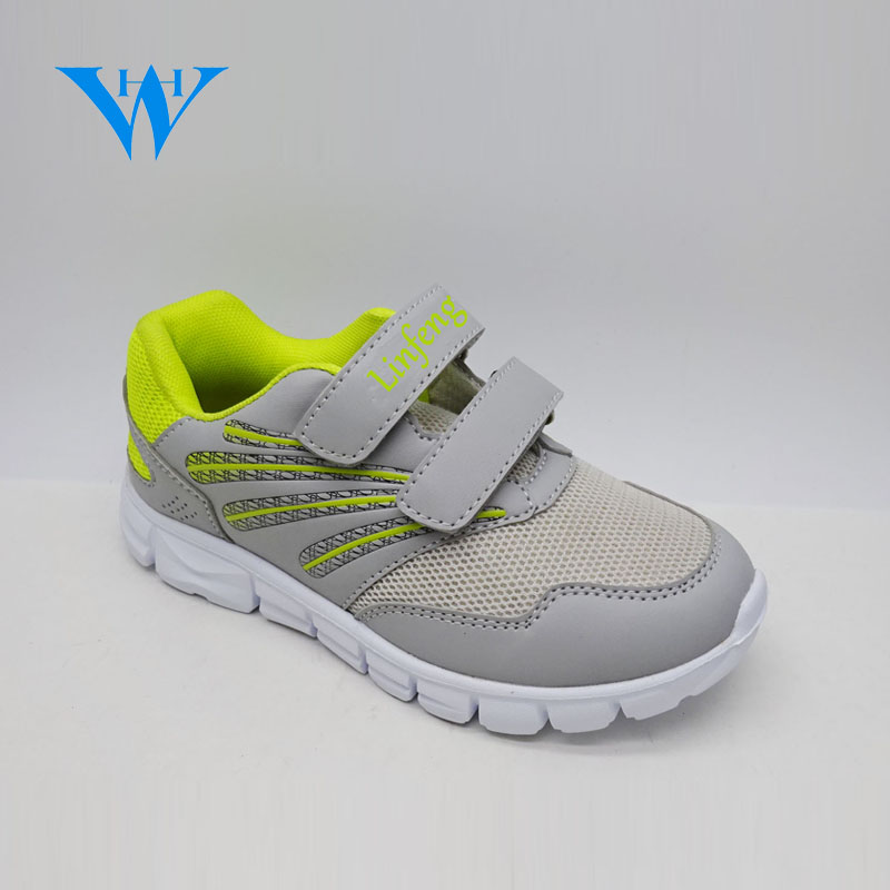 Flexible and airy indoor kids jogging sports shoes soft sole girls nonslip athletic shoes