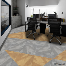New Designed Psychedelic Pattern Office PP Carpet Tiles 50x50