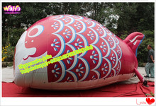 2.5mH PVC tarpulin cloth printing inflatable fish animal for outdoor event A028