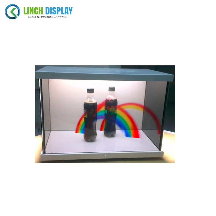 Commercial Advertising Trade Show Front Opening Door Transparent LCD Display Box Player
