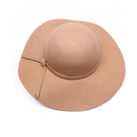 Wholesale Fashion Vintage Women Wide Brim
