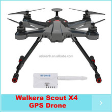 Newest arrivel!!!!Walkera Scout X4 GPS RC Quadcopter Devo F12E ILook+ WHITE FPV2 RTF Support Ground Station