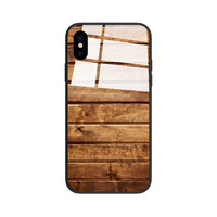 Factory Custom OEM Wooden Tempered Glass Phone Case Cover For tpu phone case cover for Iphone 6/6+/7/7+/X,accessories for Iphone