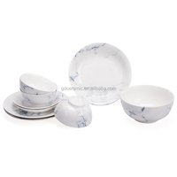 Marble Printing Tableware Ceramic Dinner Set